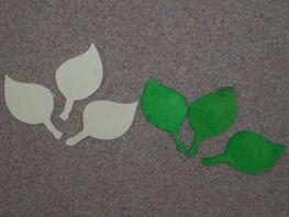 Frunze model 3 dimensiuni:4,5/ 8 cm