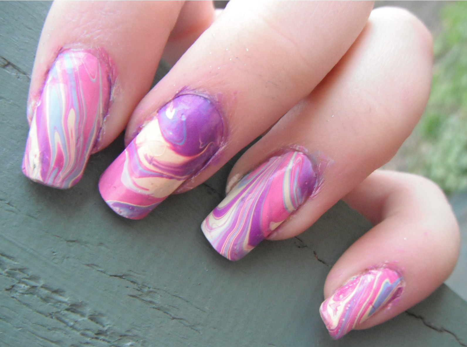 Nail Arts With Water - Nail Arts With Water Nail Art Designs