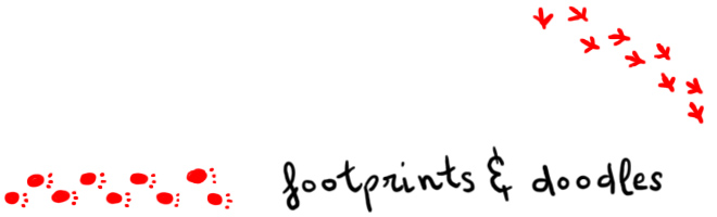 footprints &amp; doodles