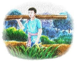 นุ้ยเติบโตเป็นชายหนุ่มที่สง่างาม แข็งแรง และมีความสามารถทางช่างไม้มาก