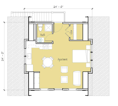 Simply elegant home designs blog new garage apartment for Studio above garage plans