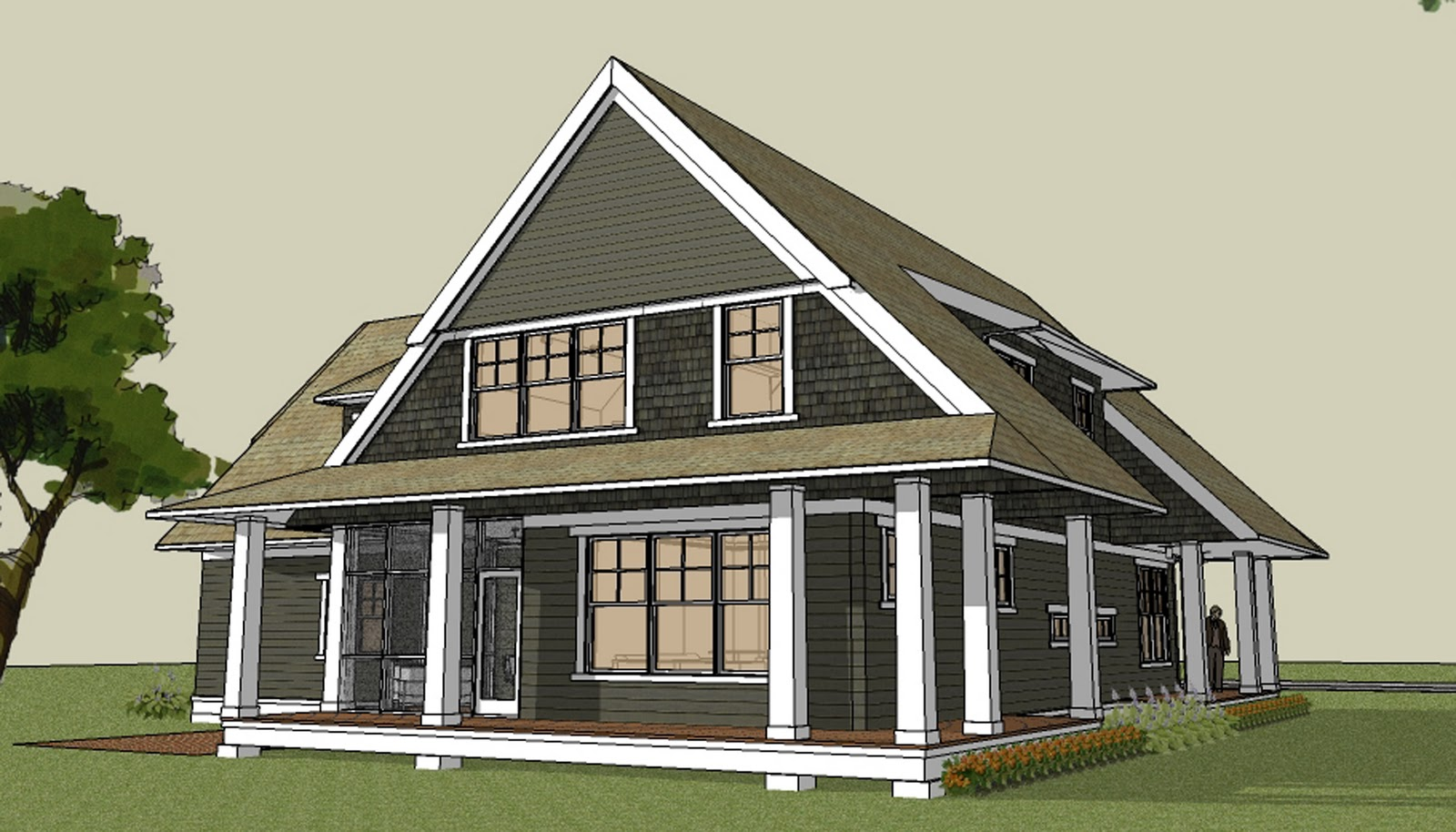 Simply elegant home designs blog modern cottage house for Modern homes with wrap around porches