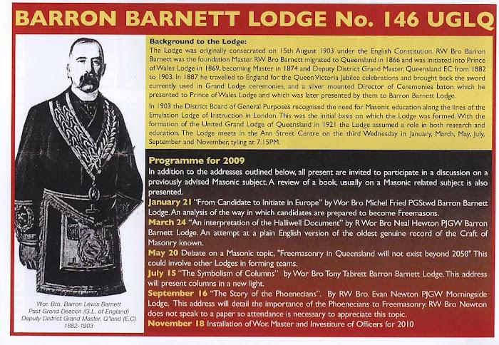 Barron Barnett's 2009 Lecture Programme