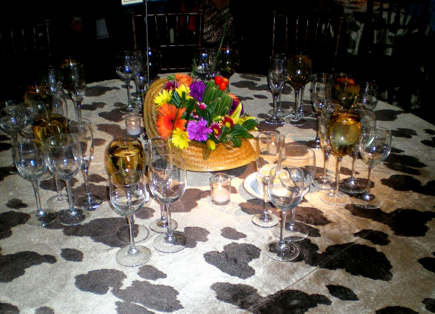 Western table decorations for a wedding photograph