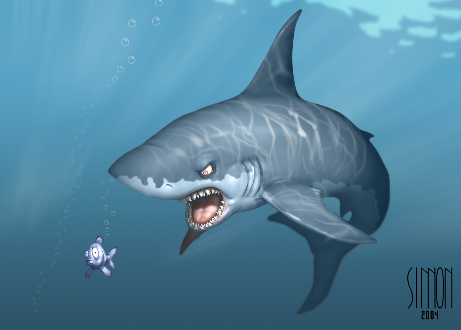 Cool Cartoon Sharks