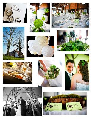 Seattle Wedding Mood Board Natural Spring Wedding