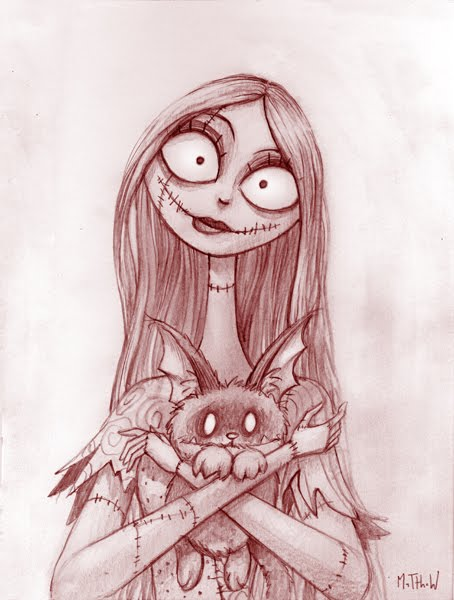 the only problem was the pencil drawing was in my The Nightmare Before Christmas Sally And Jack Drawings