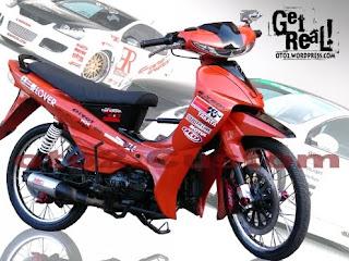 Modifikasi motor bebek JDM STYLE title=