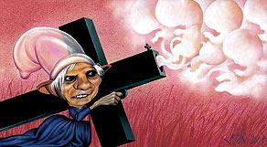 Cartoon Igreja Católica Bento XVI Limbo