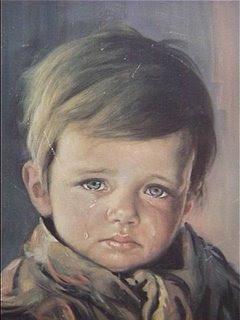 Bruno Amadio painting O Menino Chorão boy rapaz criança child
