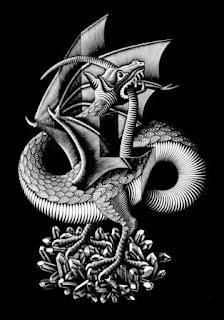 Dragão Escher desenho