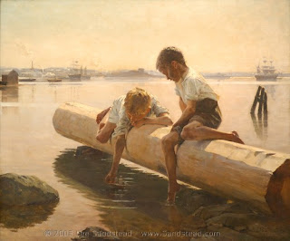 The Little Boat Albert Edelfelt Finnish painter pintura