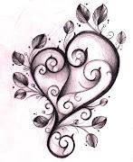 tattoos of hearts. heart tattoos. i heart hearts; tattoos of hearts