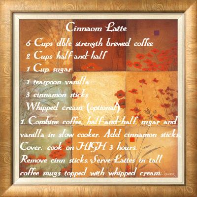 Recipe for Cinnamon Latte'