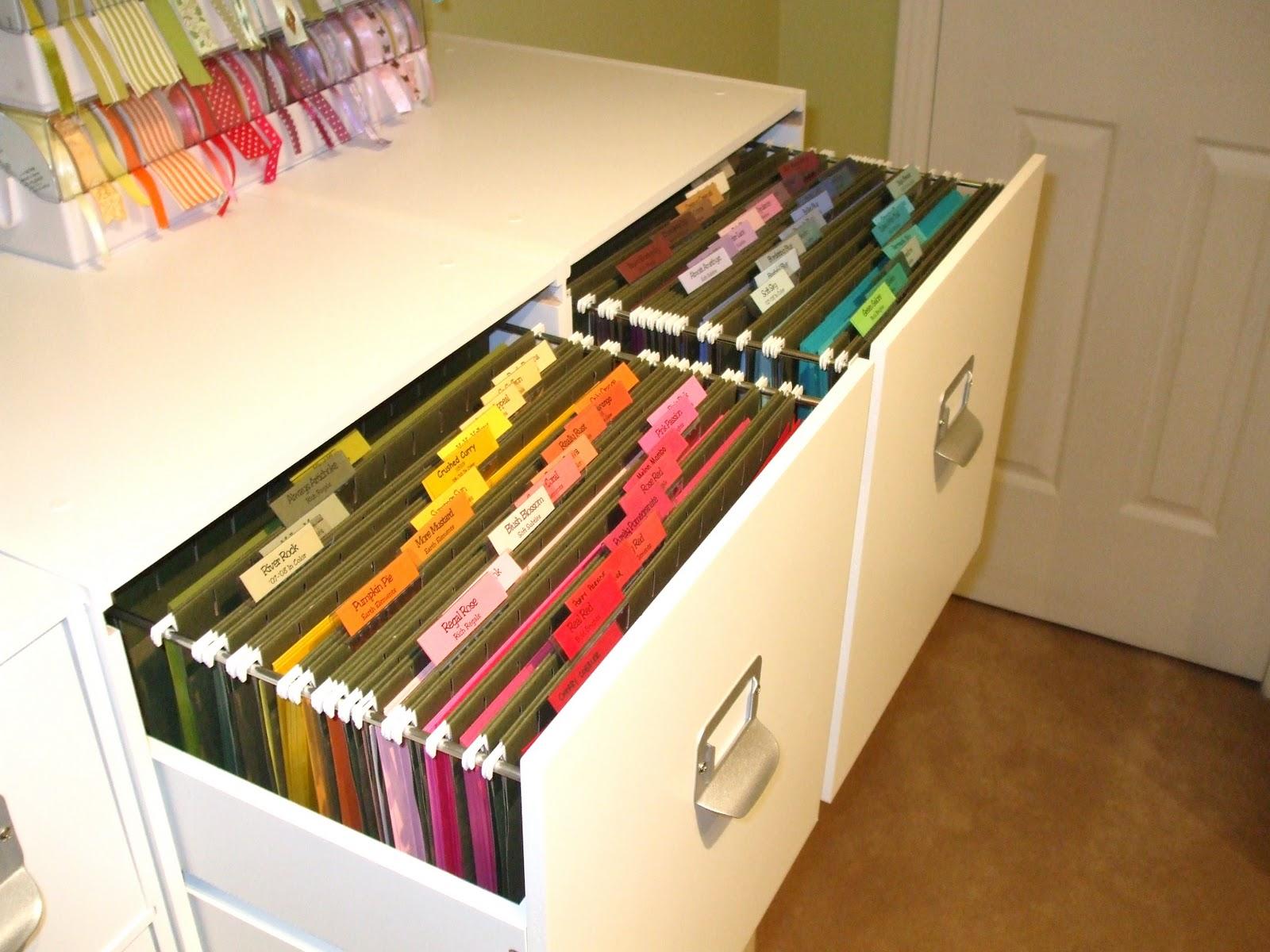 Scrapbook room organization cardstock organization - Meuble pour ranger documents ...