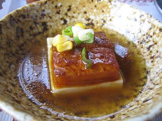 eel on tofu