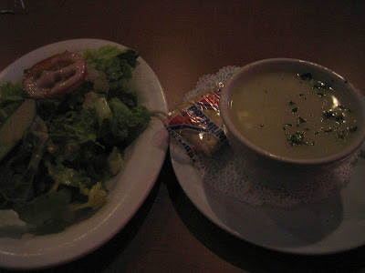 Dino's Greek and Italian Grill - salad and soup