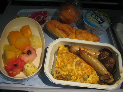 Continental Airlines - international economy in-flight meal