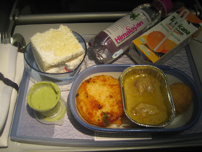 Jet Airways - economy in-flight meal