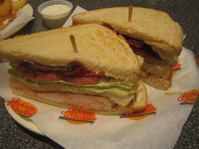 Johnny Rockets - grilled chicken club sandwich