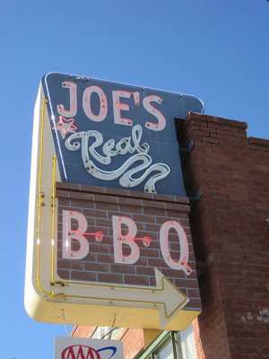 Joe's Real BBQ - sign
