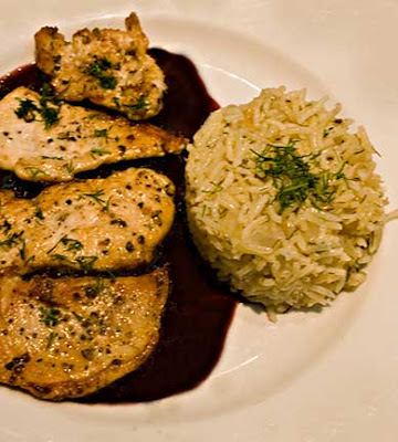 Chicken with Pomegranate-Wine Sauce