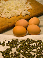 Capers and Eggs Ingredients