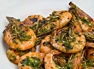 Spicy Pesto Grilled Shrimp