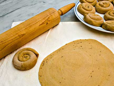 Rolling Algerian Flatbread