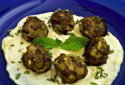 Lamb-Leek Meatballs with Avgolemono Sauce