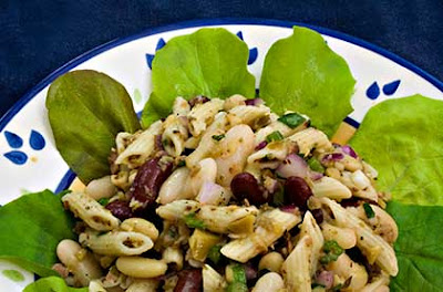 Three Bean and Pasta Salad