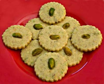 Crispy Pistachio-Cardamom Cookies