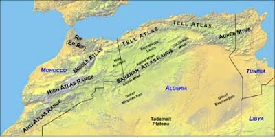 Map of High Atlas Mountains