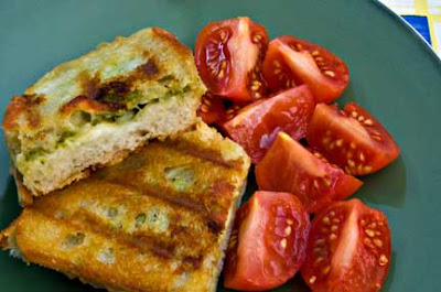 Grilled Cheese and Edamame Pesto Sandwiches