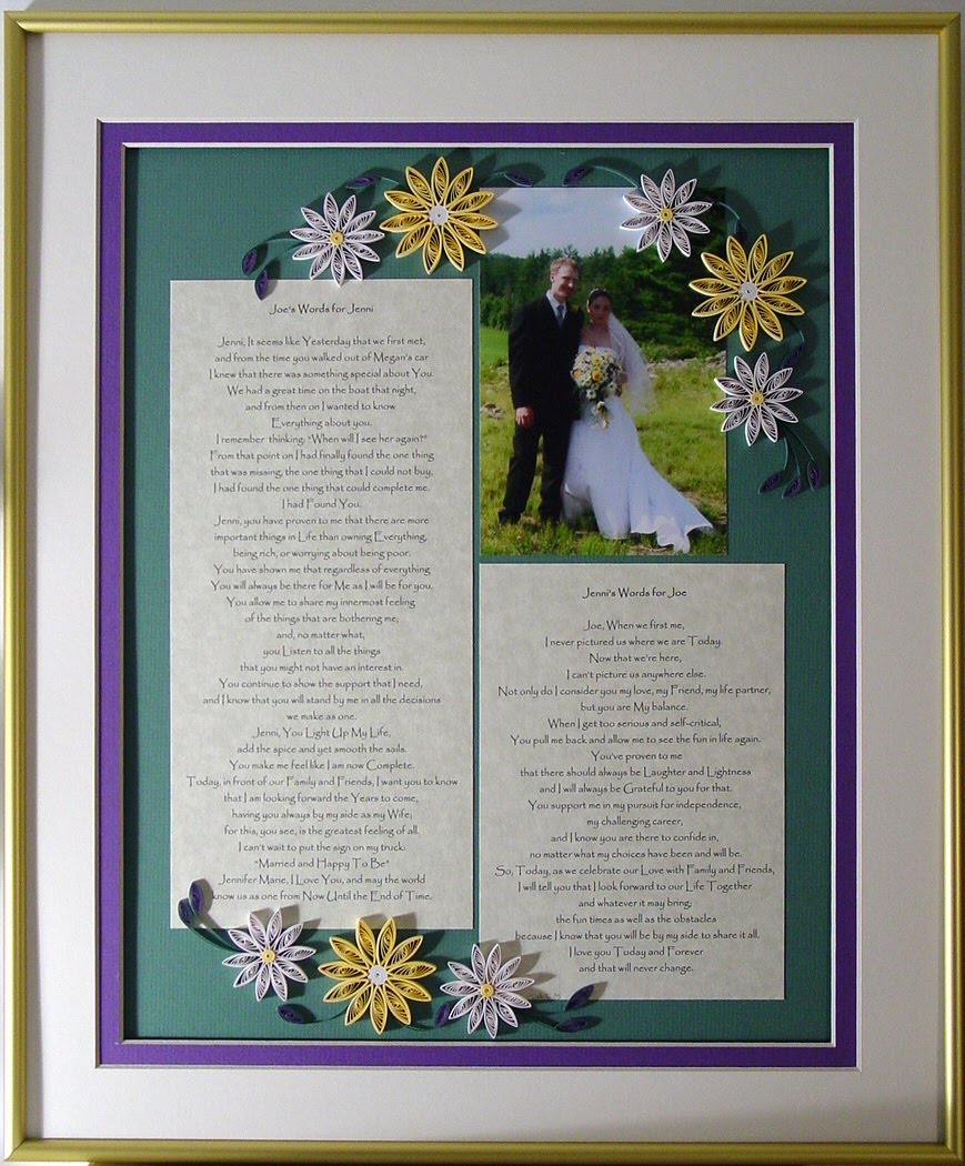 Quilling By Sandra White: Wedding Invitation Keepsakes