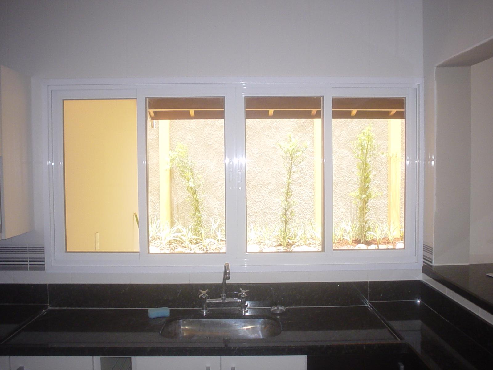 #A17C2A  Vidros: Janela de correr com 04 folhas pintura eletrostatica branco 2 Janelas De Vidro Branco