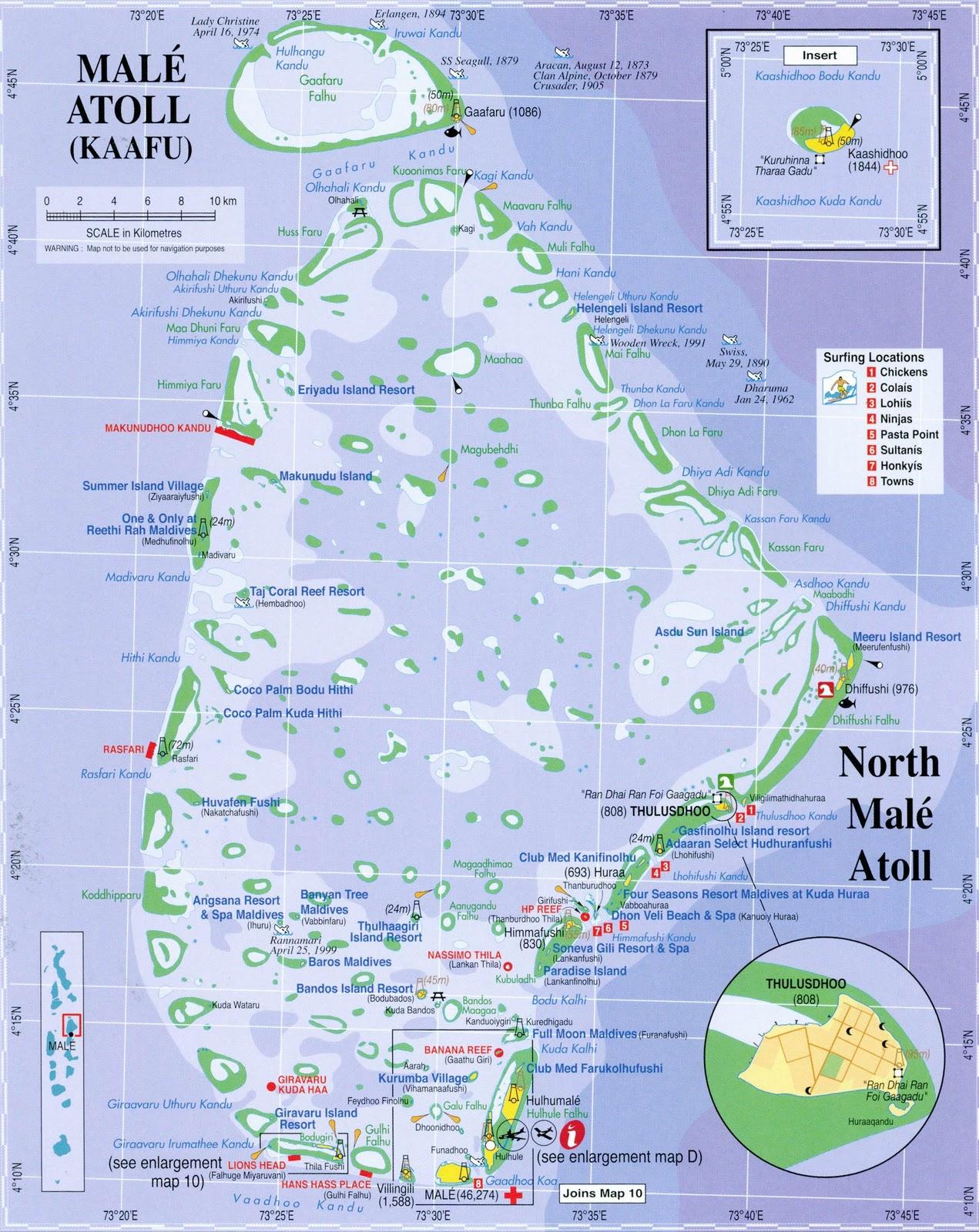 North Male Atoll (Kaafu) Map