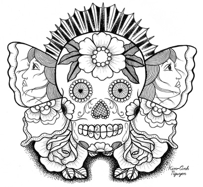 Sugar Skull Butterfly Beauty By Sunnybuick On Etsy Tattoo