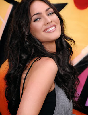 megan fox hair. megan fox hair highlights.
