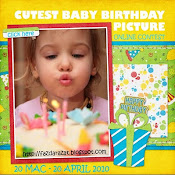 Online Contest ~ Cutest Baby Birthday Picture Contest