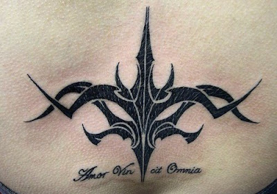 Amor Vin cit Omnia - Lower back tattoo