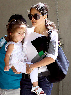 salma hayek husband and daughter. Salma Hayek and that rich