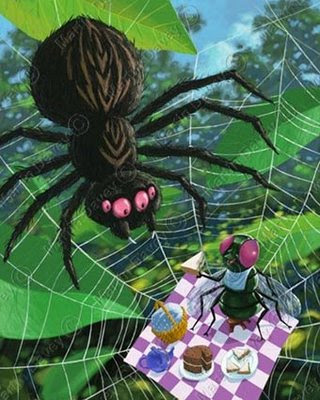 spider web picnic food