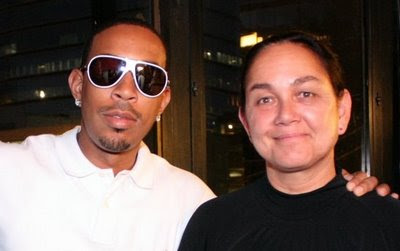 Ludacris (Christopher Bridges) and NASCAR Race Mom (me)