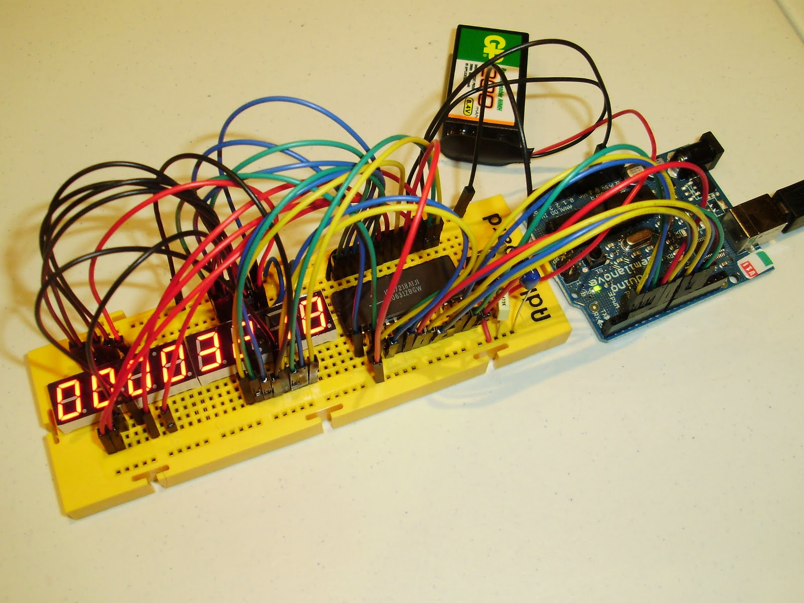 Ardugonic Driving An 8 Digits 7 Segment Display With Arduino And The 4digit 7segment Led Driver Circuit We Will Build Using A Icm7218a