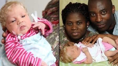 Nació bebe rubia y de ojos azules de padres negros ~ El mundo de ...