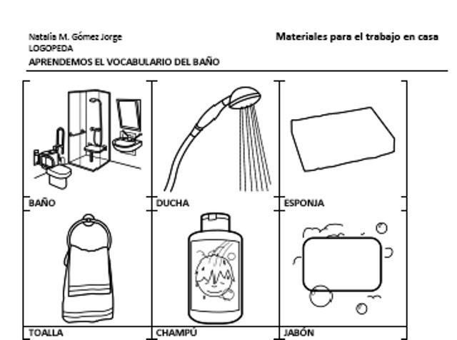 Logopedia creativa: Trabajo en casa: Vocabulario del baño