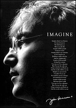 john lennon s song imagine uniting us Uniting the world in the true spirit of john lennon's song imagine and bringing john and yoko to people who ask us.