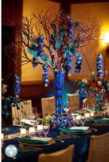 Hawaiian island wedding planners peacock wedding theme decor ideas