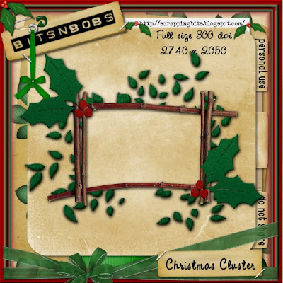 http://scrappingbits.blogspot.com/2009/11/christmas-cluster-freebie.html
